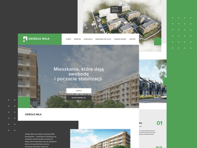Osiedle Miła - website design ux ui design branding responsive website design responsive website responsive design responsive responsive web design rwd website design webdesign web design web website