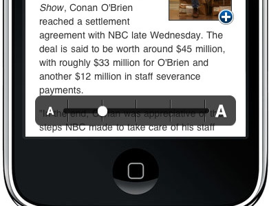 Pinch text scaling usatoday ui iphone text scaling pinch scaling