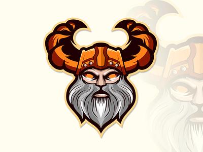 viking logo animation illustrator vector typography logo illustration icon design branding app viking logo