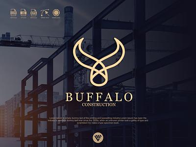 buffalo construction logo illustrator minimal graphic design typography logo illustration icon design branding app