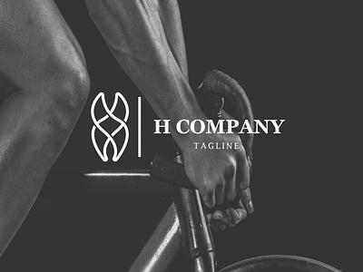 h logo for company web illustrator vector typography logo illustration icon design branding app