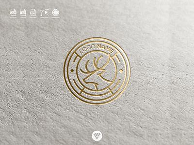 Deer awesome logo graphic design illustrator vector typography logo illustration icon design branding app