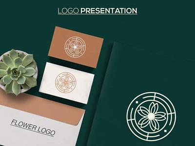 flowers logo design minimal illustrator graphic design typography logo illustration icon design branding app