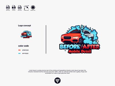 car wash logo illustrator graphic design vector typography logo illustration icon design branding app