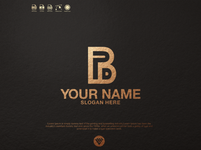 PBD logo graphic design illustrator vector typography logo illustration icon design branding app
