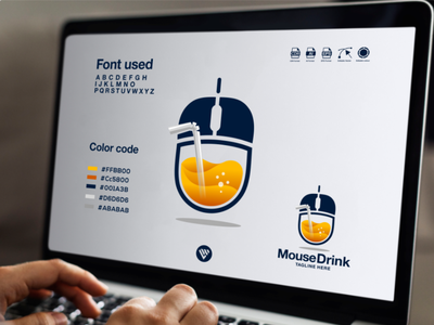 mouse drink logo concept vector logo graphic design illustrator typography icon illustration design branding app