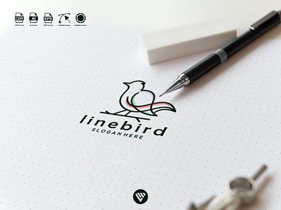 line bird logo concept vector graphic design illustrator logo typography illustration icon design branding app