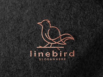line bird logo art graphic design illustrator vector logo illustration icon design branding app