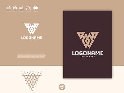 Triangle logo ux vector ui typography illustration icon design app logo branding