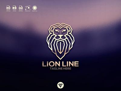 lion logo ux vector ui typography illustration icon design app logo branding