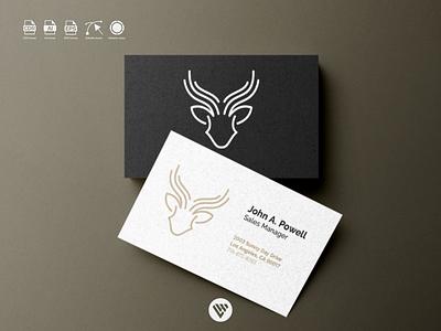 deer logo ux vector ui typography illustration icon design app logo branding