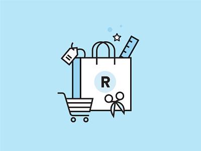 Shop Icon bag shopping icon design vector illustration