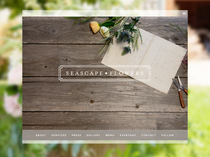 Seascape Flowers | Home Page website clean responsive ui ux web design web development feminine floral california expressionengine spark creative