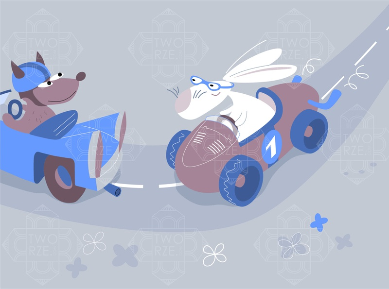 Easter bunny - racing