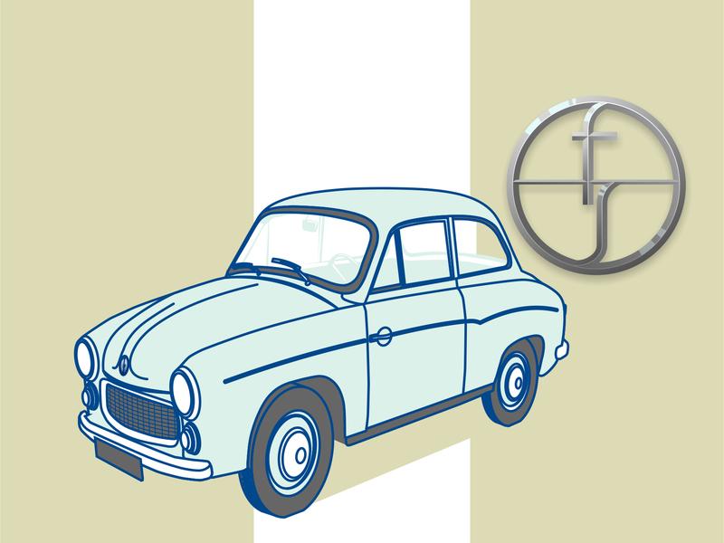 Syrena1 vector illustration vehicle syrena car vector