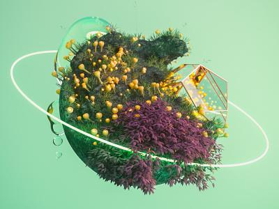 Sphere Growth 3dartwork 3dart design fantasyillustration digitalillustration artillustration 3d illustrationart forsale digitalart illustration