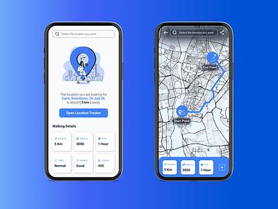 Location Tracker ux ui design