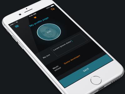 Social Gaming App ux ui settings mobile profile ios gaming game design dating blue app