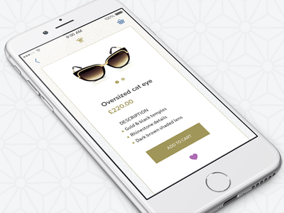 Online Boutique pink yellow sunglasses product pattern mobile ios gold ecommerce design blue