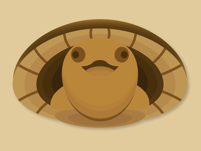 Day 14 – Snapping Turtle symmetric geometric design animal cute baby turtle illustration 30daychallenge