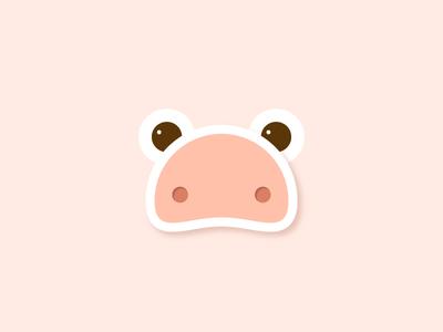 Day 16 – Piglet pattern minimal minimalistic symmetric design animal cute piglet baby pig illustration 30daychallenge