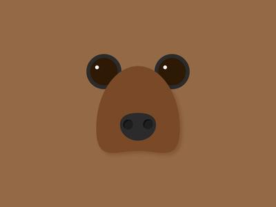 Day 17 – Bear pattern minimal minimalistic symmetric design animal cute grizzly bear illustration 30daychallenge