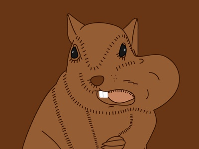 Day 19 – Squirrel disney comic kids animal cute nut squirrel illustration 30daychallenge