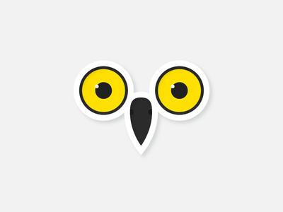 Day 20 – Snow Owl pattern minimal minimalistic symmetric geometric design animal cute owl snow illustration 30daychallenge