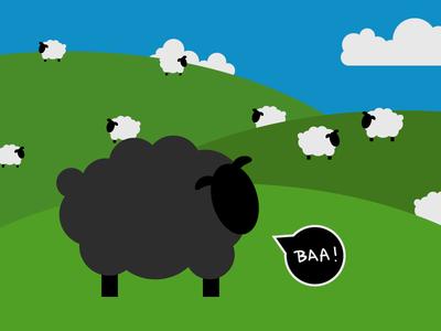 Day 21 – Sheeps comic kids animal cute fox sheep illustration 30daychallenge
