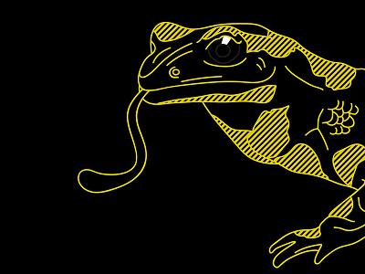 Day 22 – Salamander halftone comic kids animal cute salamander illustration 30daychallenge