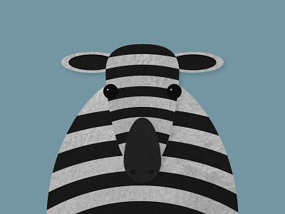 Day 24 – Zebra symmetric savanna kids animal zebra illustration 30daychallenge
