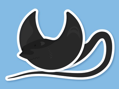Day 25 – Manta Ray geometric comic kids animal cute water fish ray manta ray illustration 30daychallenge
