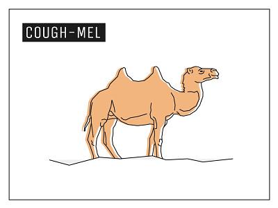 Day 29 – Camel lowpoly geometric design cigarette animal camel illustration 30daychallenge
