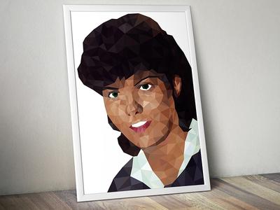 Portrait art vector lowpoly triangle portrait