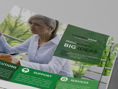Corporate Flyer a4 advertisement business solution corporate corporate flyer design designer development firm flyer graphic interactive