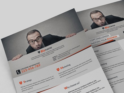 Corporate Flyer advertisement business solution corporate design designer corporate flyer development firm flyer agency business