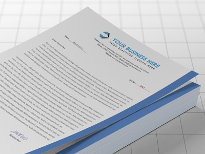 Corporate Letterhead advertisement agency business solution apps brand corporate letter head creative design designer developer development