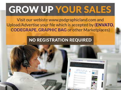 Grow up sales advertise advertisement ad ads flyers flyer sales