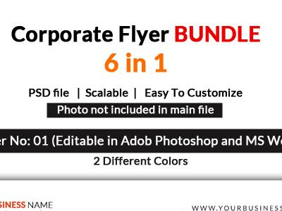 Corporate Flyers Bundle 6 in 1