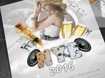 New Year 2016 Party Flyer