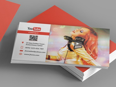 Business card youtube style by mehroshah dribbble preview image reheart Image collections