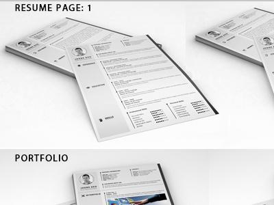 Resume Bundle 4 in 1 simple resume simple resume word resume bundle cv curriculum vitae creative resume cover letter clean resume download resume