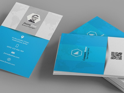 Corporate Business Card psd professional personal modern mengloong horizontal design creative corporate clean business card business