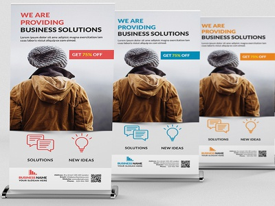 Corporate Rollup Banner trendy rollup banner roll up banner advertising advertisement