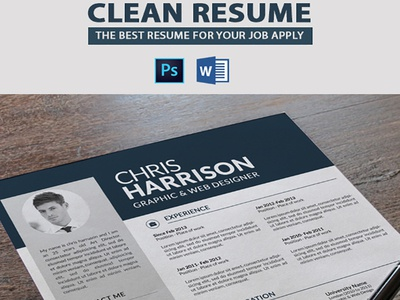 Clean Resume With Cover Letter By Mehroshah Dribbble Dribbble
