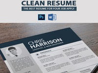 Clean Resume with Cover Letter