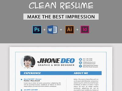 Resume/CV indesign resume indd illustrator resume idml eps file eps elegant resume elegant editable cv resume cv curriculum vitae creative cover letter clean resume