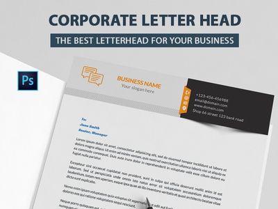 Corporate Letterhead promotional programmer print poster magazine letter head interactive graphic flyer firm development developer designer design creative