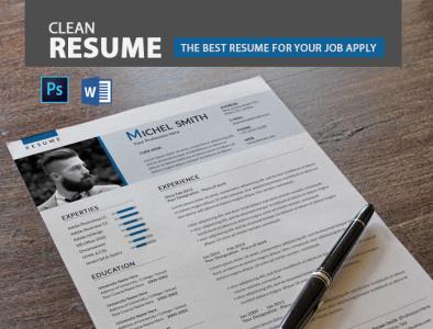 Resume resume template printready ms word resume word resume psd resume resume cv clean resume resume