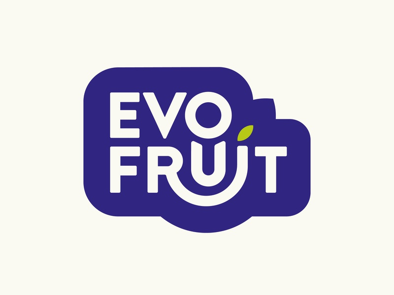 Evofruit Logo leaf mark food organic sustainable evo colorful brand identity logo tropical fruit fruit